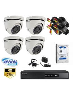 Kit 4 Camaras Turbo Hd Domo Hikvision
