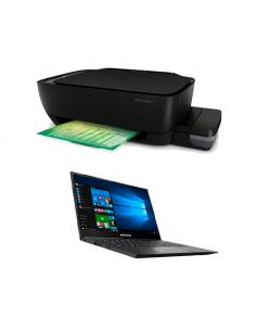 Combo Notebook Bangho Intel Celeron Max L4 I1 F /14hd/4gb/ssd120 /w10 + Impresora Sistema Continuo Hp 415