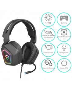 Auricular Gamer Trust Gxt 450 Blizz Rgb 7.1