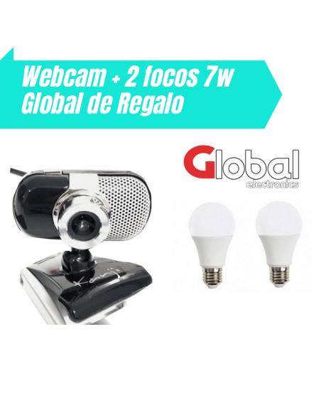 combo webcam mas dos focos global