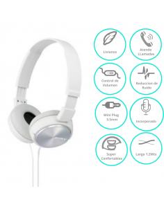 Auricular Sony Mdr-zx310apwcuc Blanco