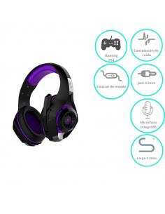 Auricular Nisuta Gaming Ns-aug300  Violeta