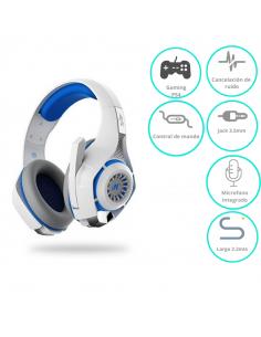 Auricular Nisuta Gaming Ns-aug300  Blanco