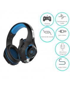 Auricular Nisuta Gaming Ns-aug300 Azul