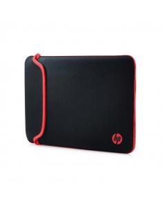 "Funda para Notebooks de 14"" HP-Negro con Rojo"
