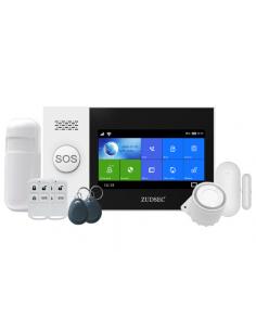 Seg Kit Alarma Zuden Wifi/gsm Hibrido Zdas-f5 +2 Crtl+1 Pir+1 Mag+2 Tags+bat+fuente