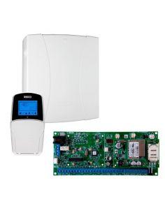 Seg Kit Alarma Risco Lightsys2 (central/gabinete/bateria/fuente/2 Pir/1 Mag/sirena Int Y Ext)